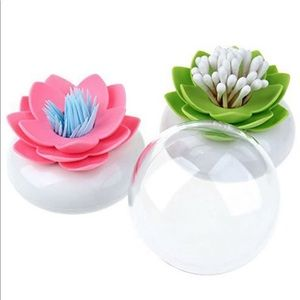 PINK Flower QTip Holder (GREEN 1 NOT INCLUDED)